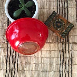 Rare Vintage Red and orange Pyrex Bowl